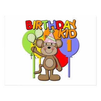 Primeiro aniversario do macaco cartões postais