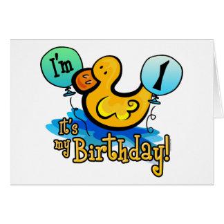 Primeiro aniversario Ducky Cartão