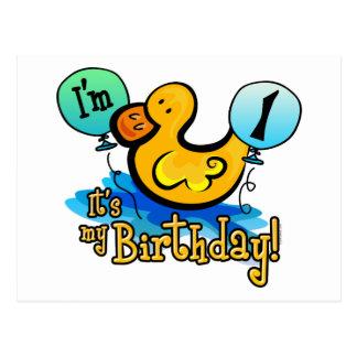 Primeiro aniversario Ducky Cartoes Postais