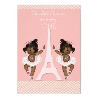 Primeiro aniversario étnico da torre Eiffel das Convite 12.7 X 17.78cm