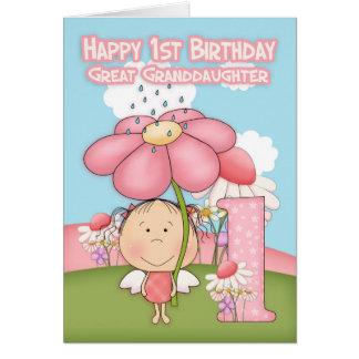 Primeiro aniversario - excelente - neta - cartão