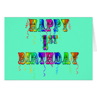 Primeiro aniversario feliz - presentes de aniversá cartões