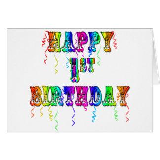 Primeiro aniversario feliz - presentes de aniversá cartão