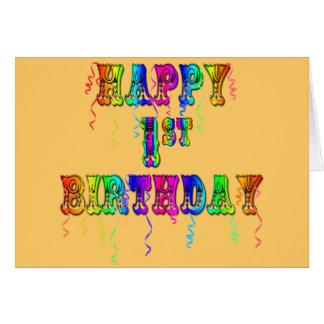 Primeiro aniversario feliz - presentes de aniversá cartão comemorativo