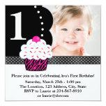 Primeiro aniversario P da foto das meninas do Convites Personalizados