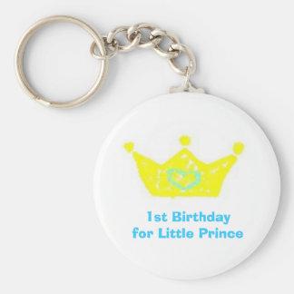 Primeiro aniversario para o príncipe pequeno corre chaveiros