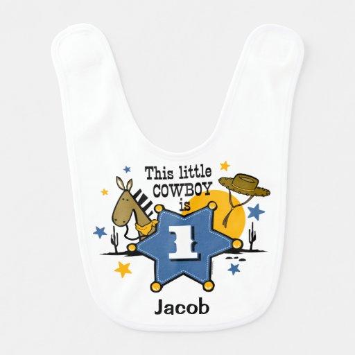 Primeiro aniversario pequeno do vaqueiro babador de bebe