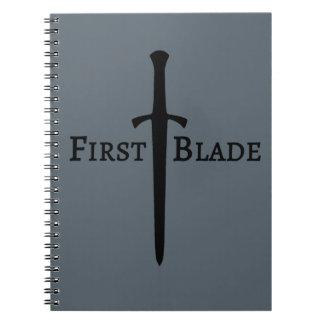 Primeiro caderno da lâmina