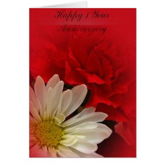 Primeiro cartão do aniversário de casamento do ano