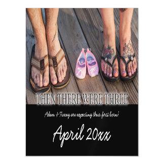 Primeiro cartão do ímã do anúncio da gravidez da