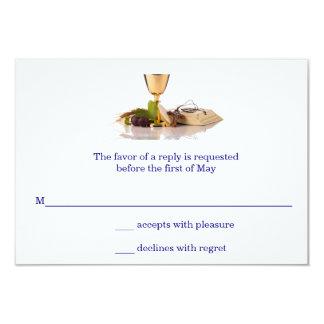 Primeiro cartão elegante moderno do comunhão convite 8.89 x 12.7cm