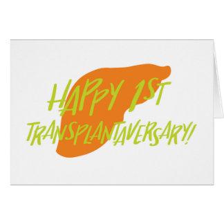 Primeiro cartão feliz de Transplantaversary do
