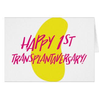Primeiro cartão feliz de Transplantaversary do rim