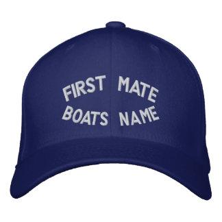 Primeiro companheiro com seu nome dos barcos boné bordado