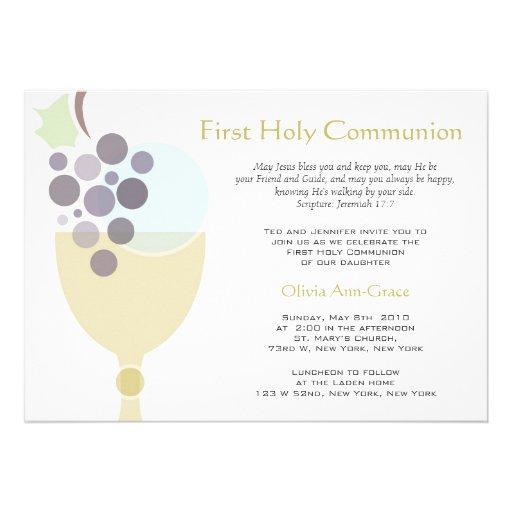 Primeiro comunhão convite