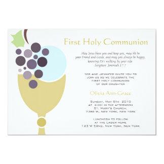 Primeiro comunhão convite 12.7 x 17.78cm