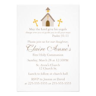 Primeiro comunhão convites personalizado