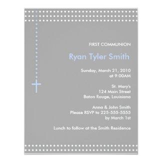 Primeiro comunhão convite 10.79 x 13.97cm