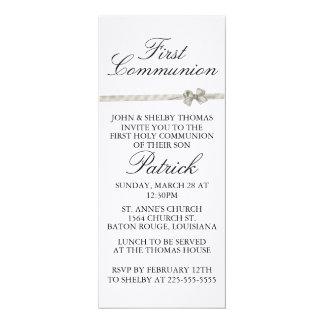 Primeiro comunhão convite 10.16 x 23.49cm