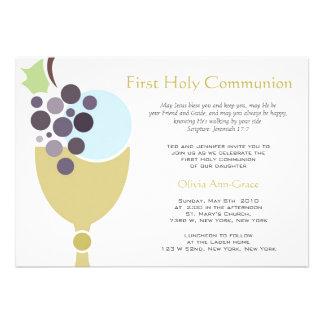 Primeiro comunhão convite personalizado