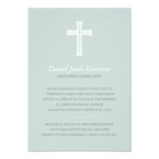 Primeiro comunhão dos meninos azuis convite 12.7 x 17.78cm