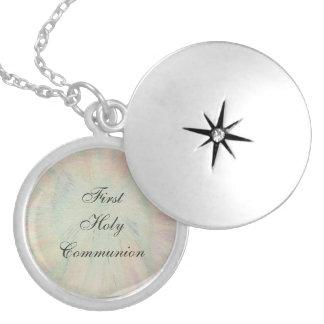 Primeiro comunhão santamente colar medalhão
