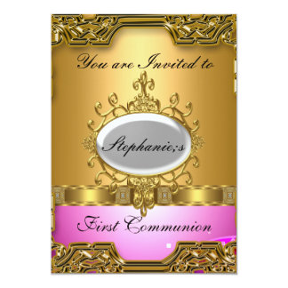 Primeiro comunhão santamente convites personalizado