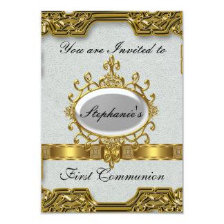Primeiro comunhão santamente convite 8.89 x 12.7cm