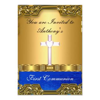 Primeiro comunhão santamente convite 12.7 x 17.78cm