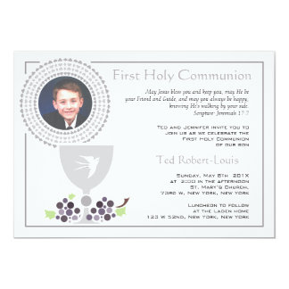 Primeiro convite da foto do comunhão