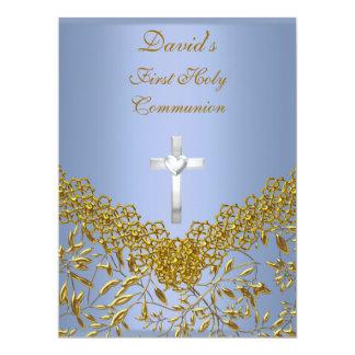 Primeiro convite de festas do comunhão santamente