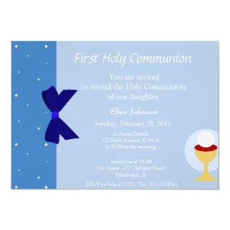 Primeiro convite do comunhão convite 12.7 x 17.78cm
