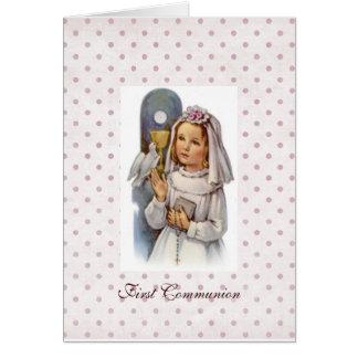 Primeiro convite do comunhão cartão comemorativo