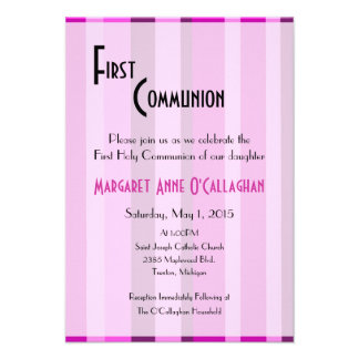 Primeiro convite do comunhão - menina