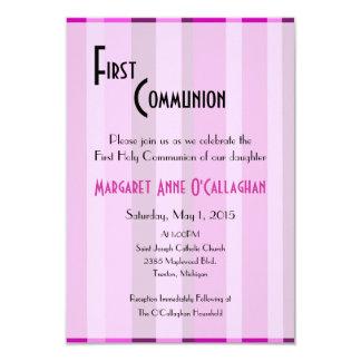 Primeiro convite do comunhão - menina convite 8.89 x 12.7cm