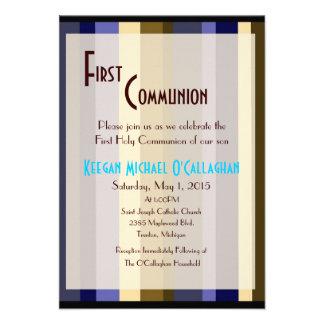 Primeiro convite do comunhão - menino