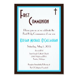 Primeiro convite do comunhão - menino convite 8.89 x 12.7cm