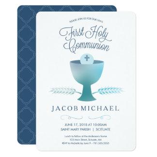 Primeiro convite do comunhão santamente -