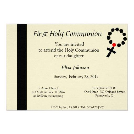 Primeiro convite do comunhão santamente