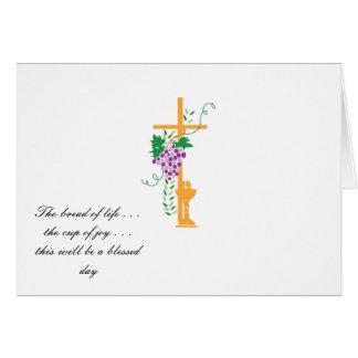 Primeiro convite do comunhão santamente cartão comemorativo
