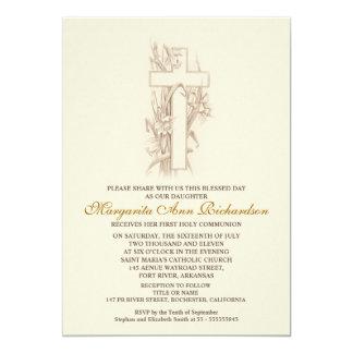Primeiro convite do comunhão santamente - cruz