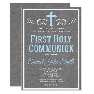 Primeiro convite do comunhão santamente, primeiro