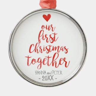 Primeiro do Natal ornamento elegante junto