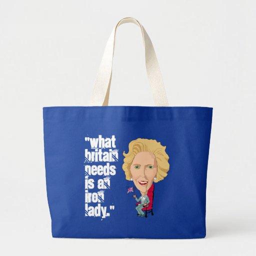 Primeiro ministro britânico anterior dama de ferro bolsa para compras