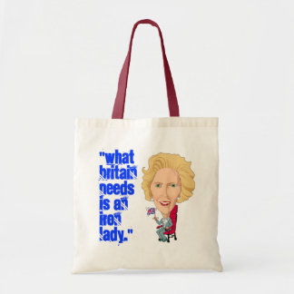 Primeiro ministro britânico anterior dama de ferro sacola tote budget