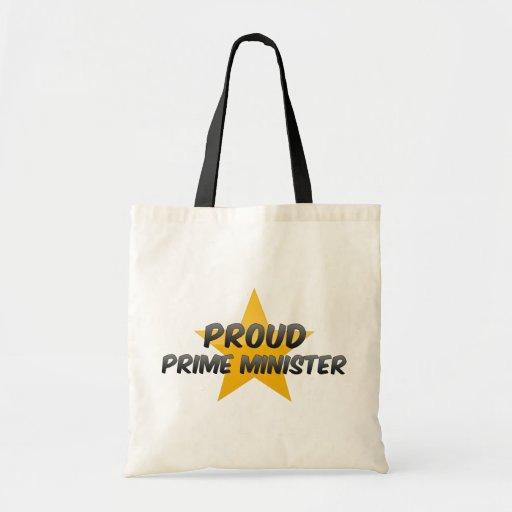 Primeiro ministro orgulhoso bolsas de lona