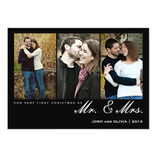 Primeiro Natal como o Sr. & a Sra. cartão com Convite 12.7 X 17.78cm