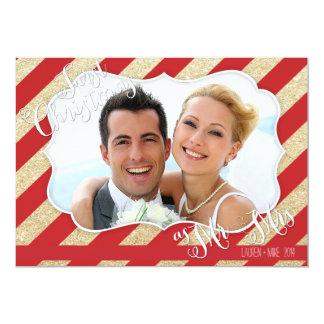 Primeiro Natal como o Sr. & a Sra. Vermelho e o Convite 12.7 X 17.78cm