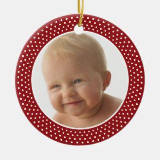 Primeiro Natal de Baby - ornamento do QUADRO da