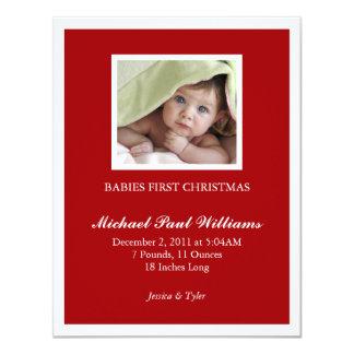 Primeiro Natal dos bebês Convite 10.79 X 13.97cm